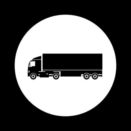 camion: Black and white truck icon