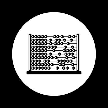 abacus: Black and white abacus icon Illustration
