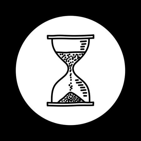 timepieces: Black and white hourglass icon