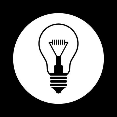 watt: Black and white light bulb icon
