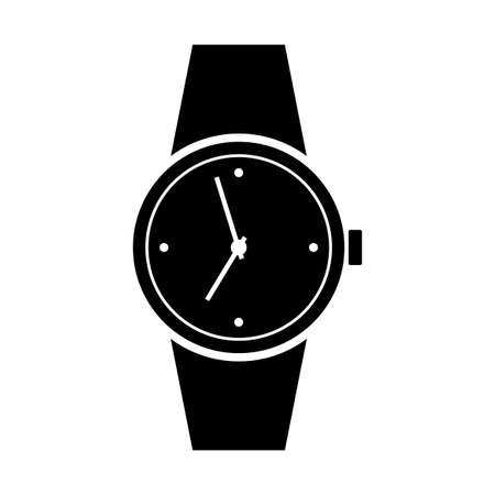 Wristwatch icon on white background Illustration