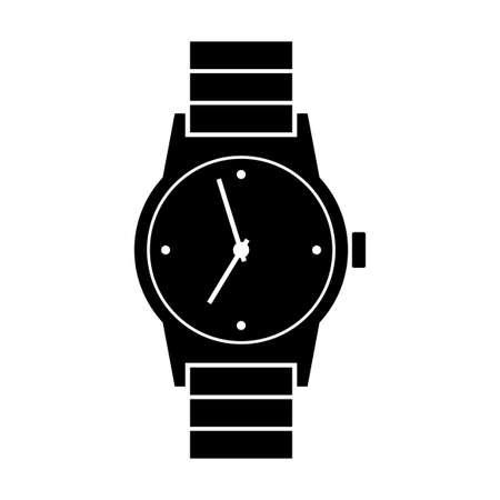 wristwatch: Wristwatch icon on white background Illustration