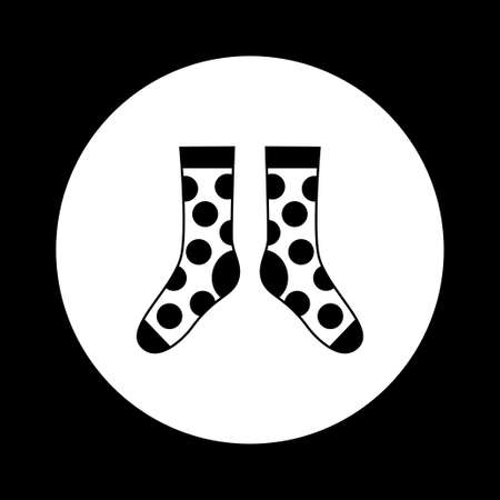 cotton wool: Black and white socks icon