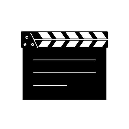 Movie clapperboard on white background, isolated vector icon
