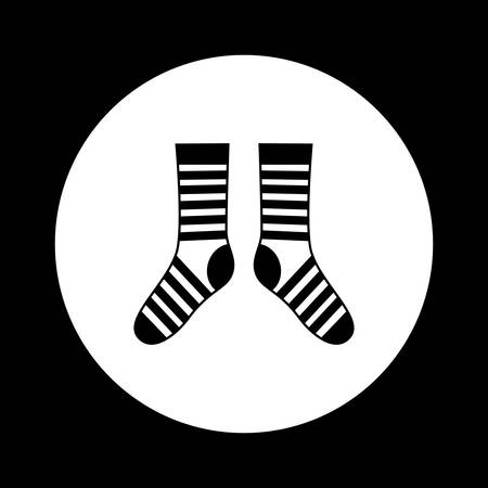 hosiery: Black and white socks icon