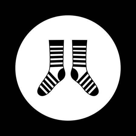 white socks: Black and white socks icon