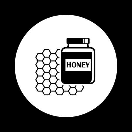 curative: Black and white honey icon