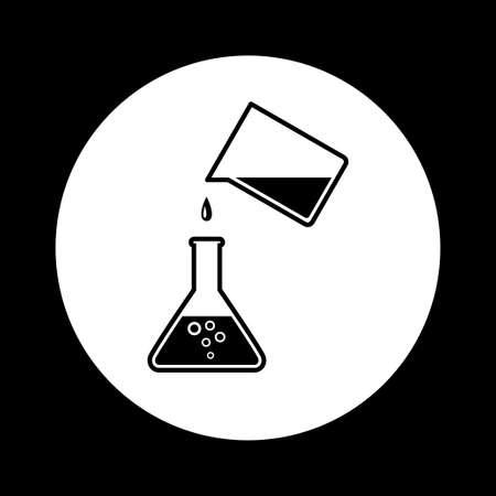 laboratory glass: Black and white laboratory glass icon
