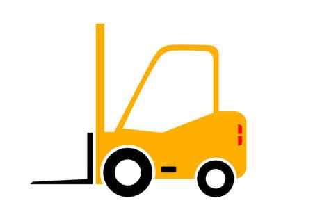 forklift truck: Forklift truck icon on white background
