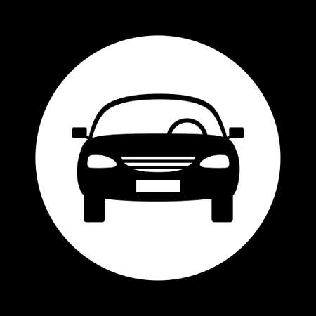 black and white: Black and white car icon