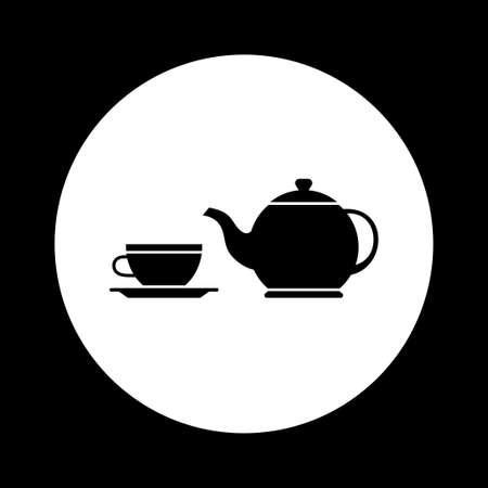 white tea: Black and white tea icon