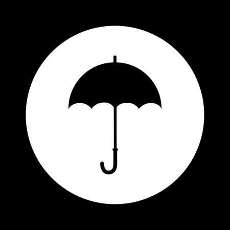 black and white: Black and white umbrella icon