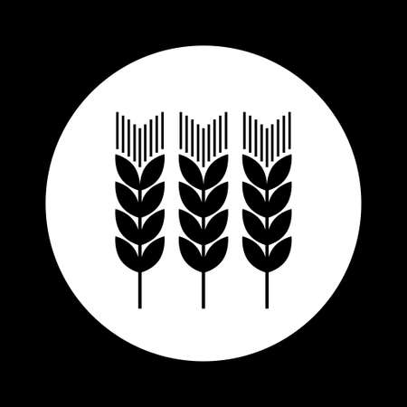 agricultural: Black and white agricultural icon