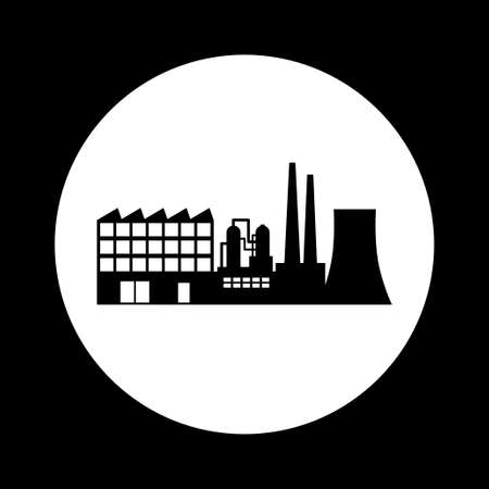 black and white: Black and white factory icon