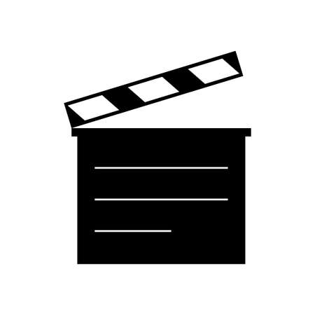 Movie clapperboard on white background Illustration