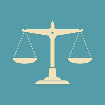 equilibrium: Scale vector icon Illustration