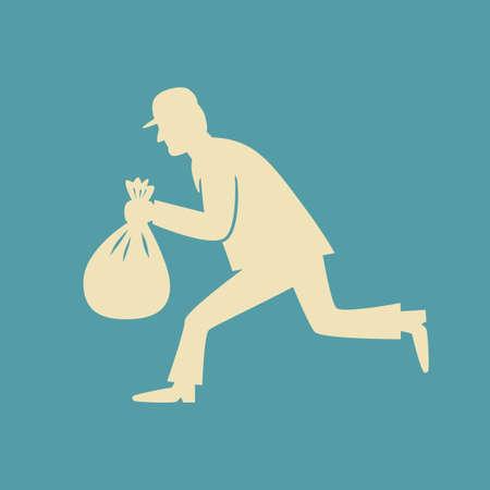 burglary: Thief vector icon Illustration