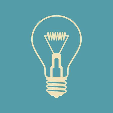 watt: Light bulb vector icon Illustration