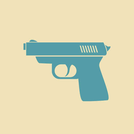 handgun: Gun vector icon