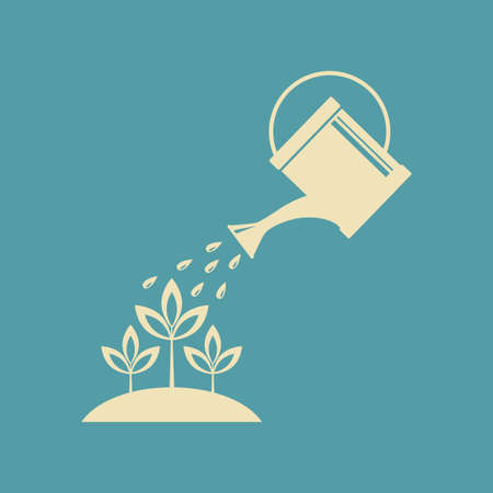 wateringcan: Watering can icon Illustration