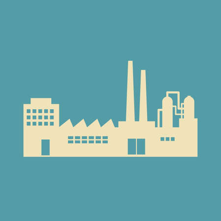 petrochemical: Factory vector icon