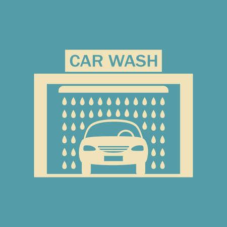 car wash: Car wash icon Illustration