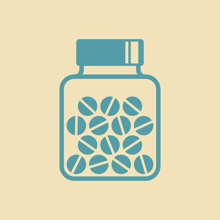 a substance vial: Medicine icon Illustration