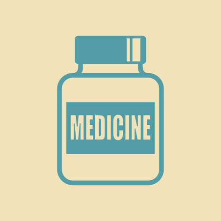 a substance vial: Medicine vector icon