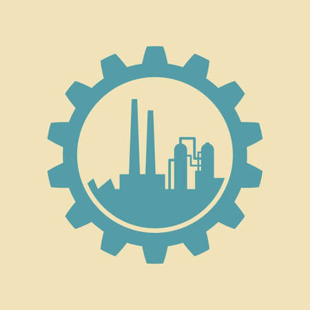 toothed: Industrial vector icon