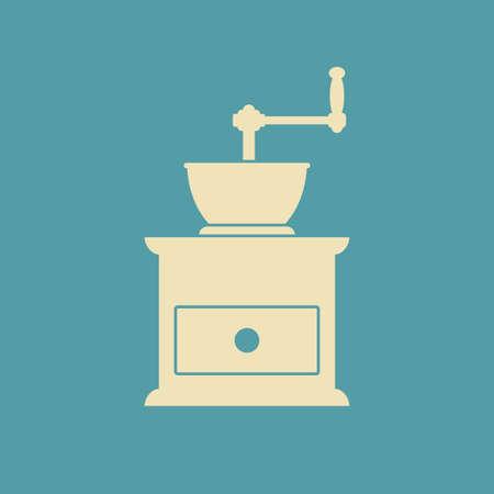 grinder: Coffee grinder icon Illustration