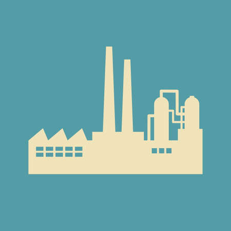 petrochemical plant: Factory vector icon