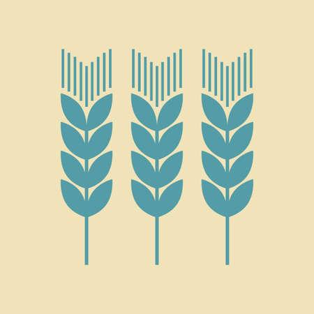 corn stalk: Cereal vector icon