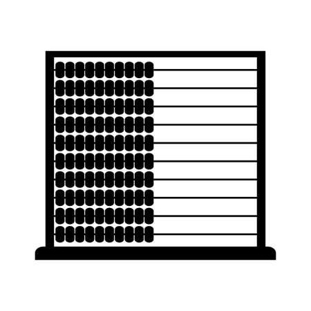 abaco: Negro �baco icono del vector