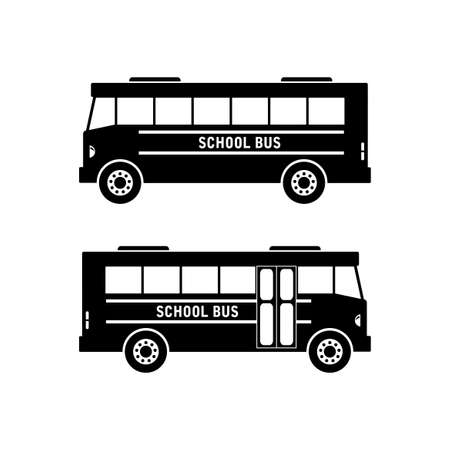 excursion: School bus  icon on white background