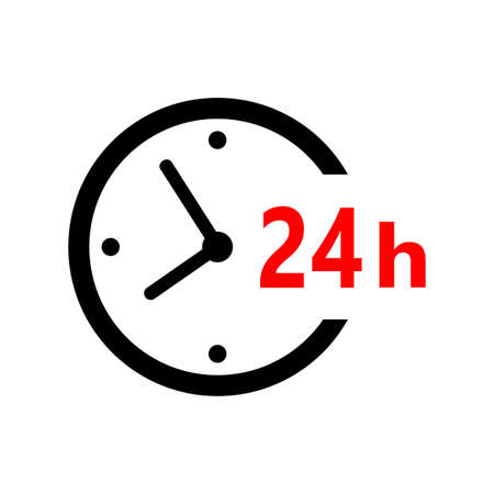 Clock vector icon on white background