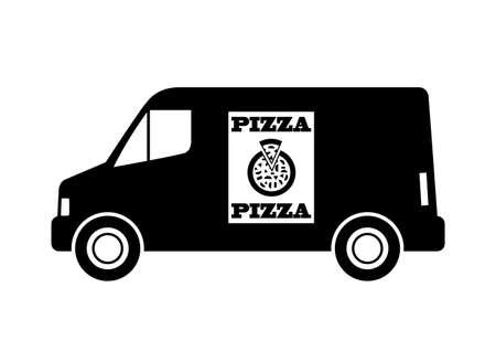 haulage: Black delivery van Illustration
