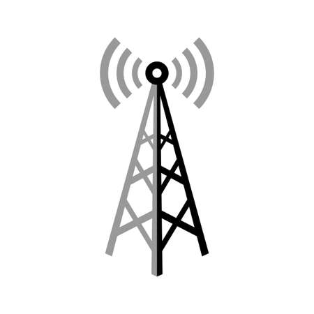 tv tower: Transmitter vector icon on white background, isolated object