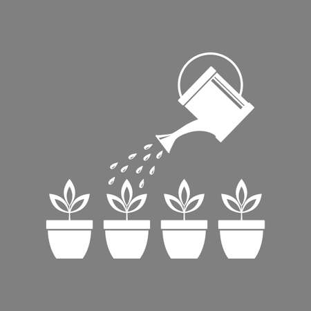 cultivating: Watering can icon.