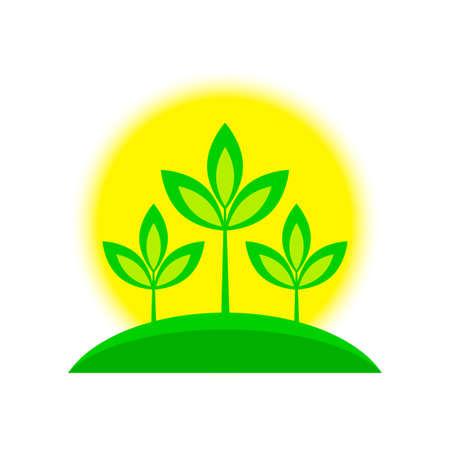 Plant vector icon on white background Illustration
