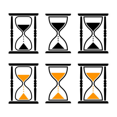 timepieces: Hourglass vector icons Illustration