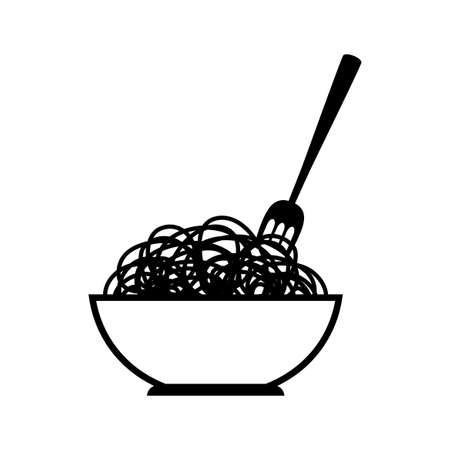 Noodle vector icon on white background