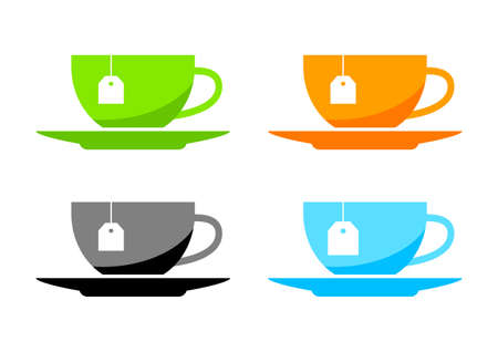Tea cup vector icons