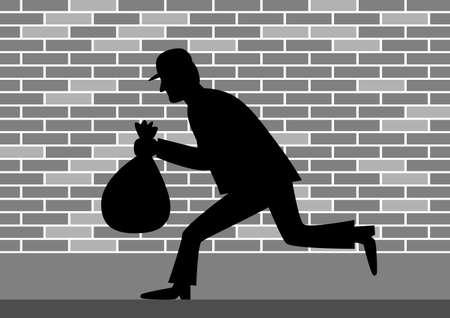 villain: Thief vector icon Illustration