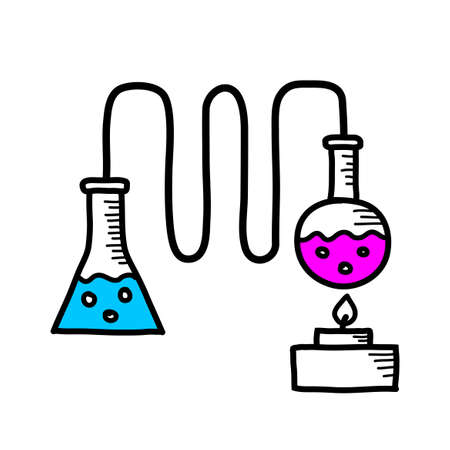 distillation: Distillation kit drawing.