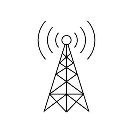 Black transmitter vector icon on white background