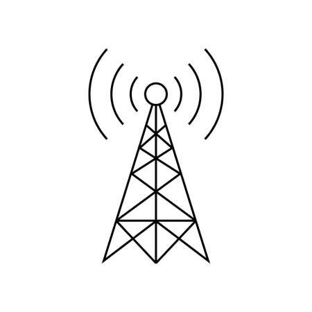 Icono de vector de transmisor negro sobre fondo blanco