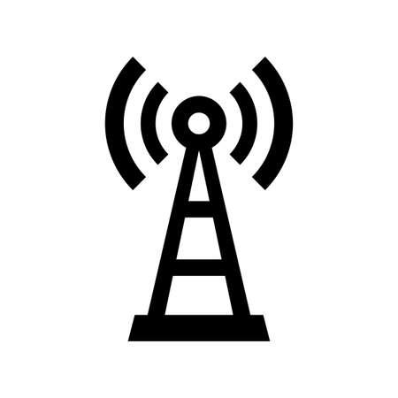 Zwarte zender vector icoon op witte achtergrond Stockfoto - 85578654