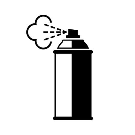 Spray can vector icon on white background.