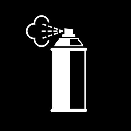 Spray can vector icon on black background