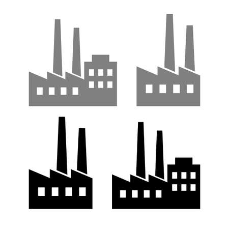 Factory vector icons on white background